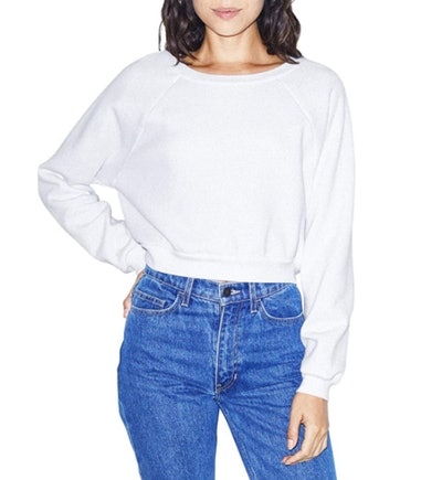 American Apparel Flex Fleece Cropped Sweatshirt