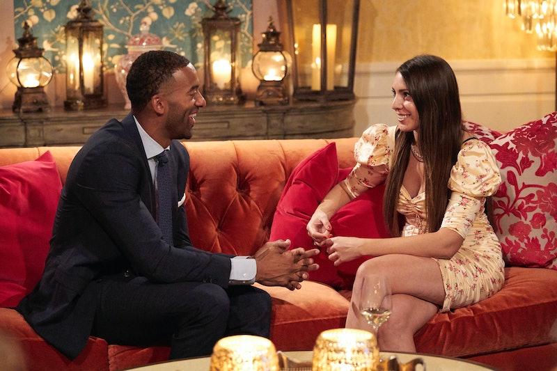 Victoria Larson and Matt James chat on 'The Bachelor' via ABC Press Site