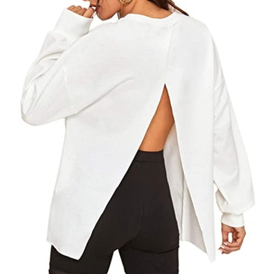 Floerns Open-Back Sweatshirt