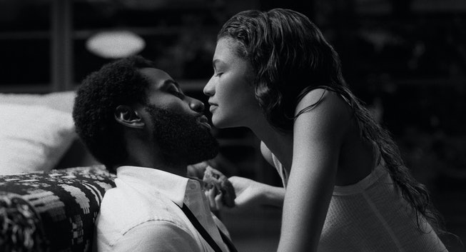 JOHN DAVID WASHINGTON as MALCOLM, ZENDAYA as MARIE.