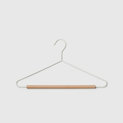 Marie Kondo Cloud White Serene Matte Metal Suit Hanger Pkg/5