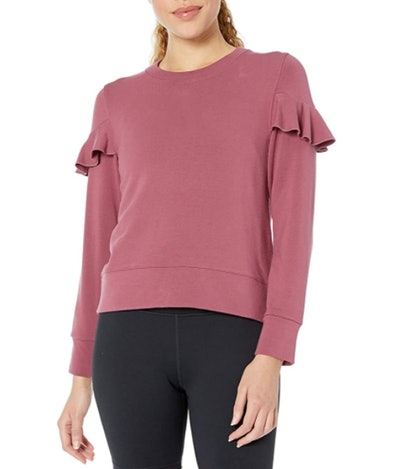 Core 10 Cloud Soft Fleece Ruffle Sleeve Sweatshirt