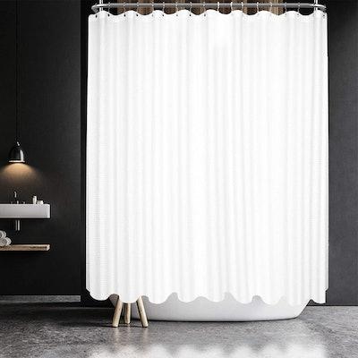 Barossa Design Waffle-Weave Clawfoot Shower Curtain