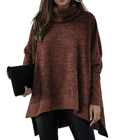 Unidear Batwing-Sleeve High-Low Oversized Tunic