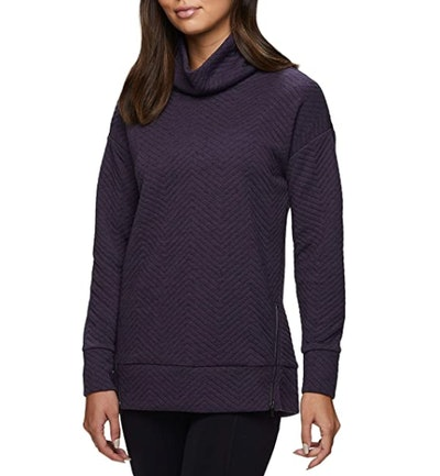 RBX Side-Zipper Cowl Neck Sweatshirt