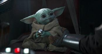 Baby Yoda Holding Ball The Mandalorian