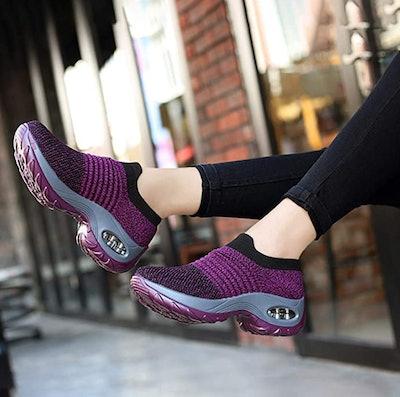 DUOYANGJIASHA Mesh Slip On Sneakers