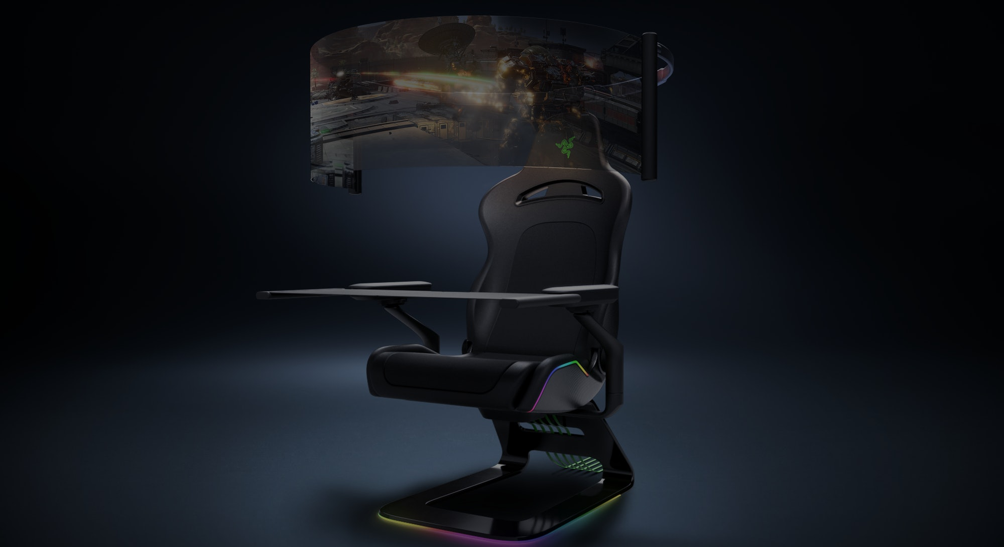 Razer's Project Brooklyn is an immersive gaming chair unveiled at CES 2021.