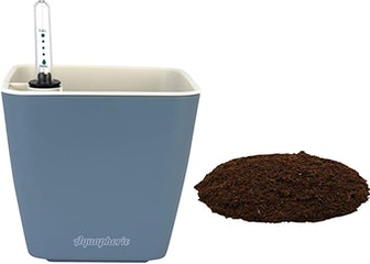 """Window Garden Aquaphoric Self Watering Planter (5"""") + Fiber Soil"""