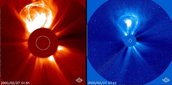 coronal mass ejection image from nasa