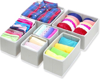 Simple Houseware Foldable Drawer Organizers (6-Pack)