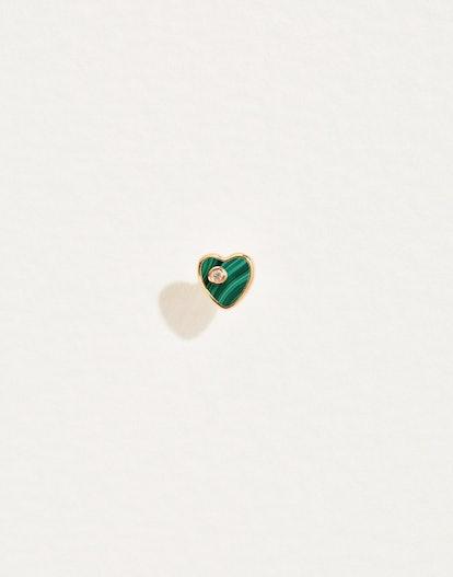 Heart Diamond Stud