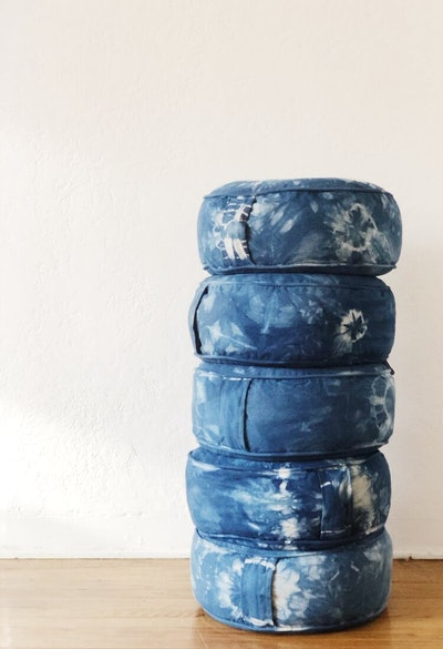 Indigo Meditation Pillow