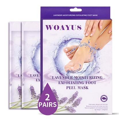 WOAYUS Exfoliating Foot Peel Masks (2-Pack)