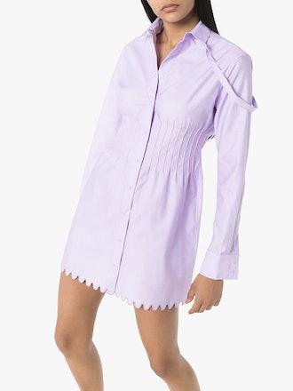 Pin-Tuck Shirt Dress
