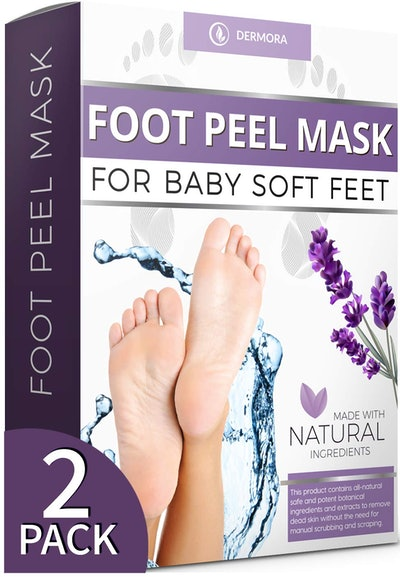 DMERORA Natural Foot Peel Masks (2-Pack)