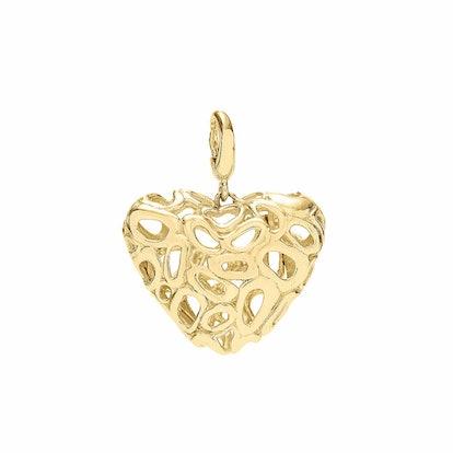 Bubble Heart Charm 18KY