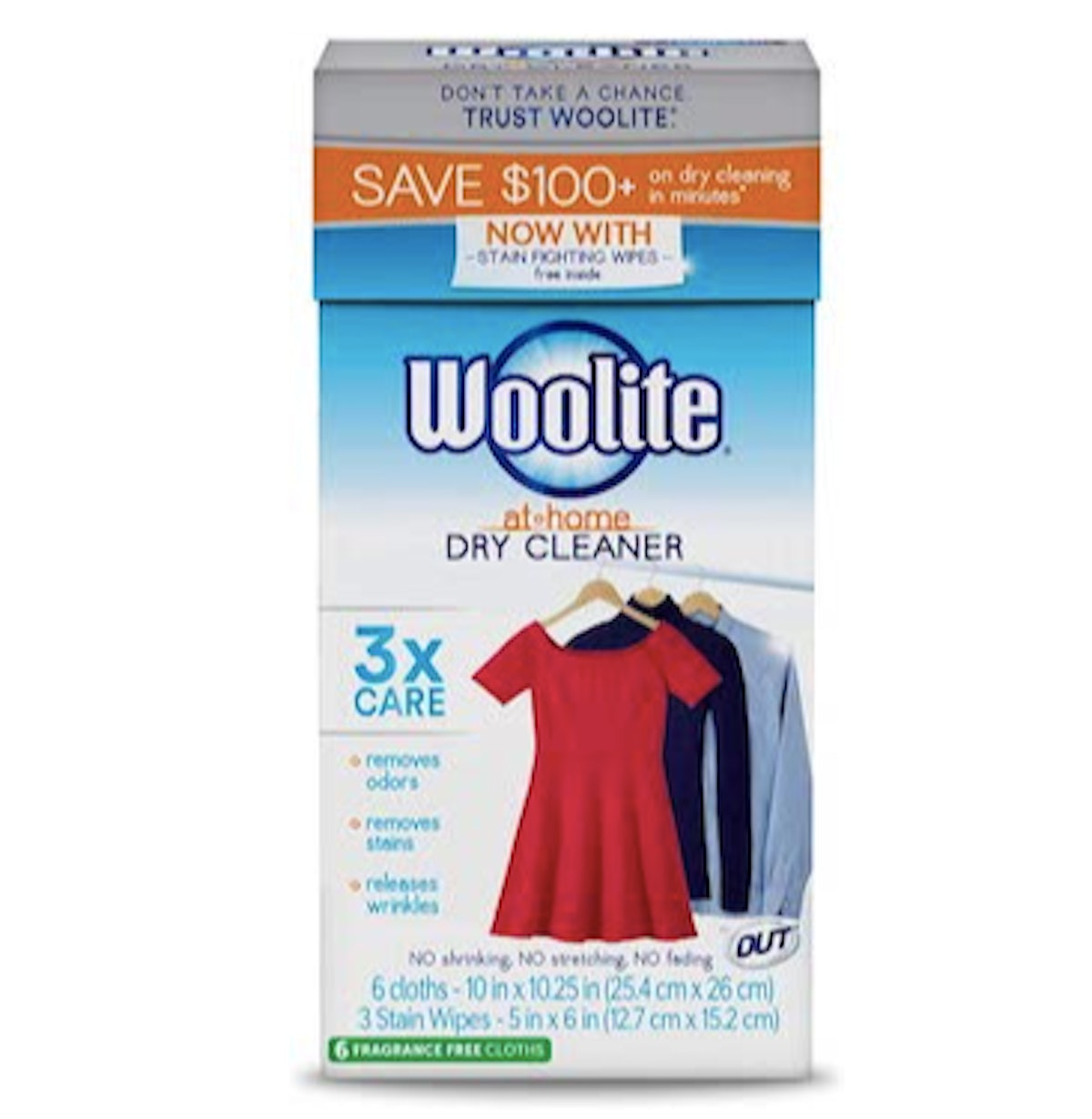 Woolite At-Home Dry Cleaner Cloths (6-Pack)