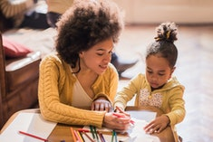 mother and child coloring