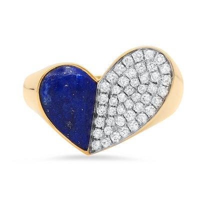 Penacho Heart Lapis Ring