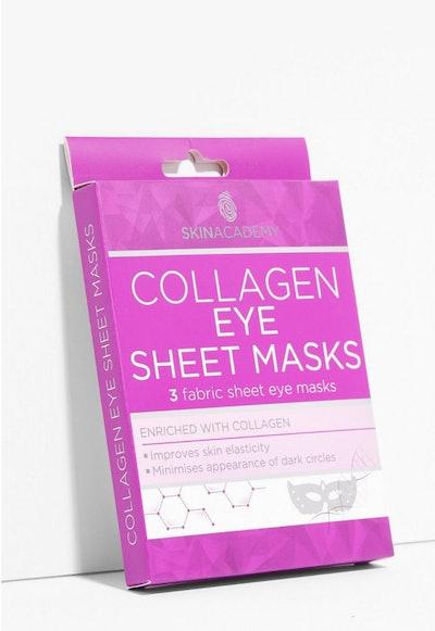 Skin Academy 3-Pc Collagen Eye Sheet Masks