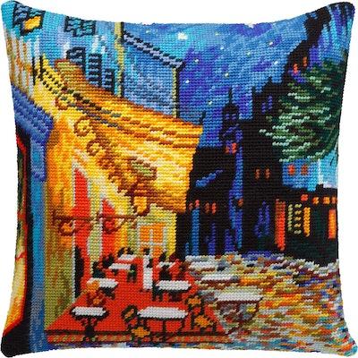 Brvsk Café Terrace at Night by Vincent Van Gogh Needlepoint Kit