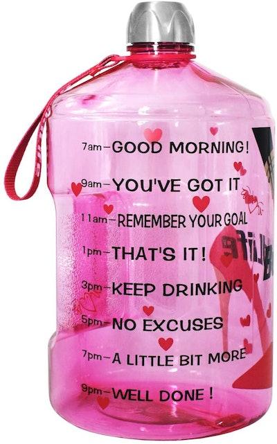 BuildLife Motivational Water Bottle (128 ounces)