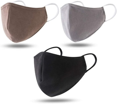 Dienalls Reusable Cotton Face Mask with Adjustable Earloops (3-Pack)