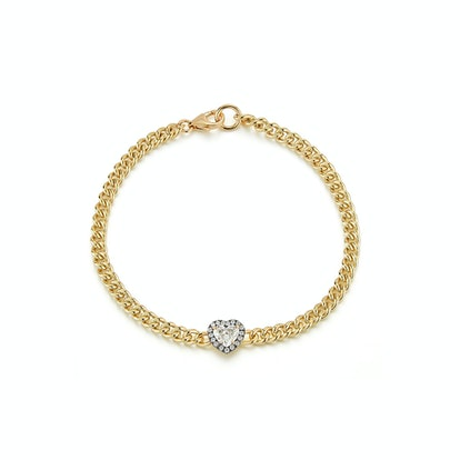 Toujours mon Amour Diamond Heart Solitaire Bracelet