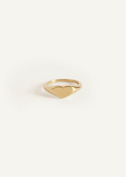 Petite Heart Signet Ring
