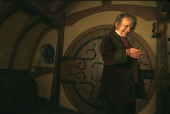 Ian Holm's Bilbo Baggins kickstarts the journey of a lifetime when he leaves his birthday party.