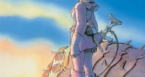 A still image from Nausicaa Of The Valley Of The Wind.