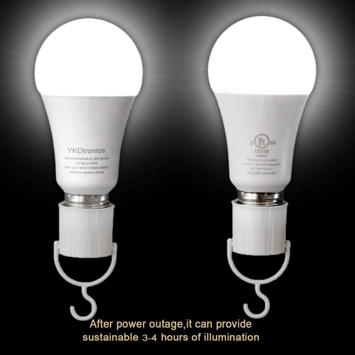 YKDtronics Rechargeable Light Bulbs (2-Pack)