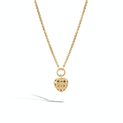 Classic Chain Heart Charm Necklace