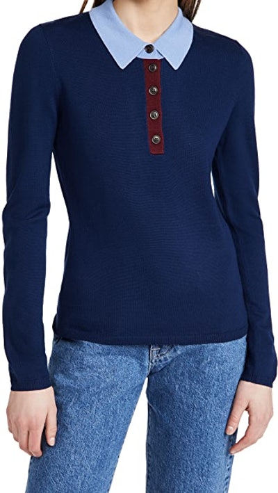 Polo Sweater Top