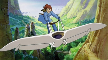 Nausicaa Valley of the Wind: The princess gets around the valley on a glider.