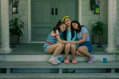 Lana Condor, Janel Parrish, and Anna Cathcart in 'To All the Boys 3'