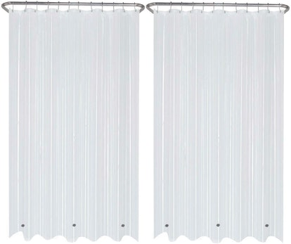 LiBa Mildew-Resistant Shower Curtain Liners (2-Pack)