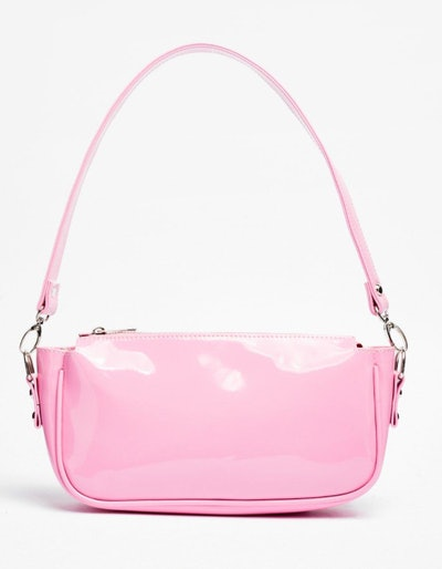 Want Patent On You Zip Shoulder Bag