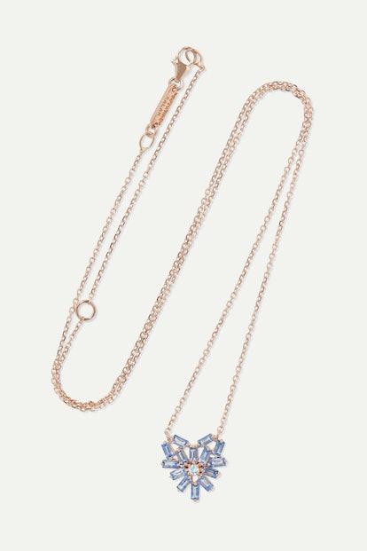 18-Karat Rose Gold, Sapphire And Diamond Necklace