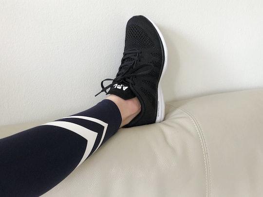 Leggings and Sneakers