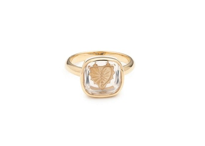Sealed Gemstone Heart Ring