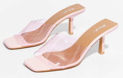 Did We Make That Clear Stiletto Square Toe Mule