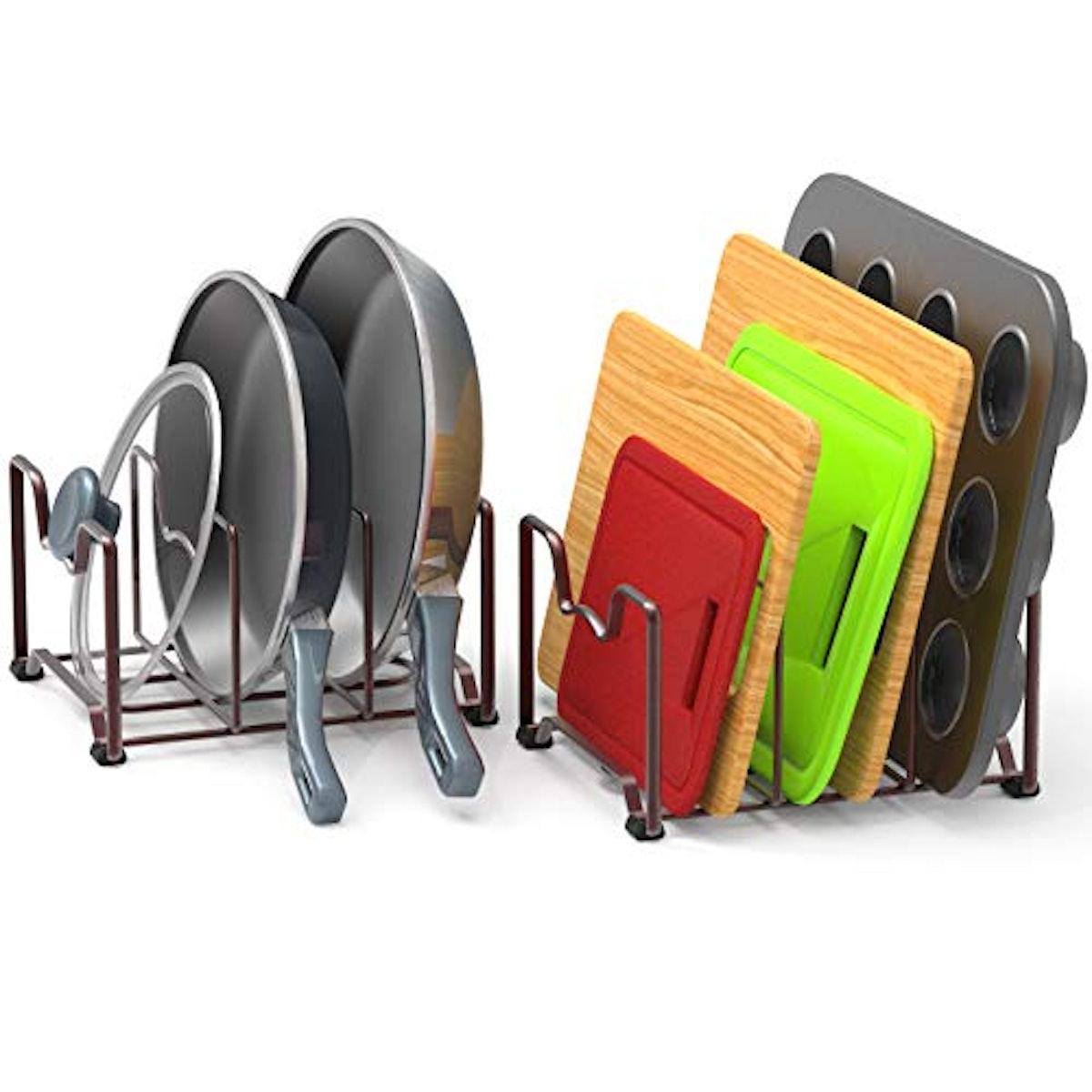SimpleHouseware Kitchen Cabinet Pantry and Bakeware Organizer