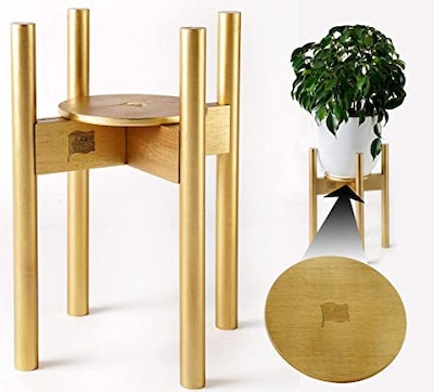 ZPirates Gold Plant Stands for Indoor Plants