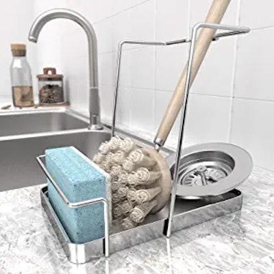 KINCMAX Sink Sponge Organizer Tray