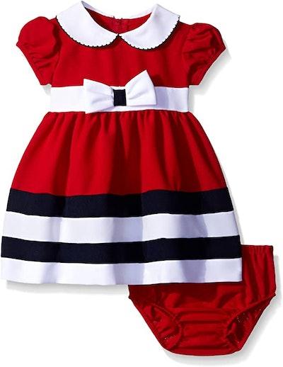Bonnie Baby Baby Girls' Peter Pan Collar Nautical Dress and Panty Set