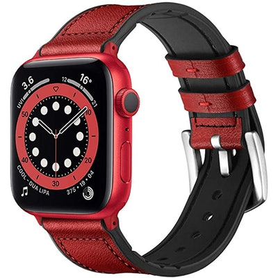 OUHENG Leather Apple Watch Compatible Band