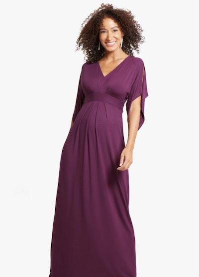 Kimono Maternity Maxi Dress