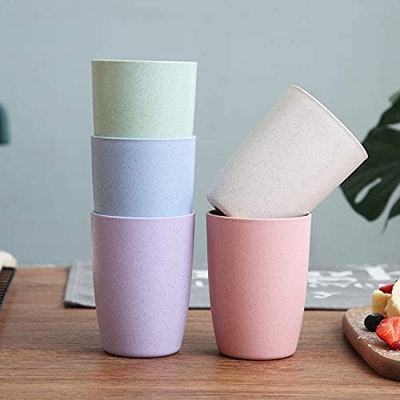 Choary Eco-friendly Unbreakable Reusable Drinking Cup (Set of 5)